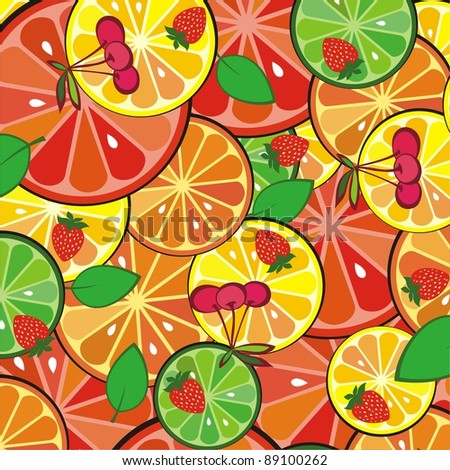 colorful fruit background. illustration