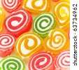 Colorful fruit-paste sweets close-up - stock photo