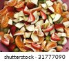 colorful fruit salad - stock photo