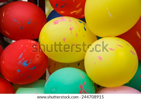 Colorful funny balloons - stock photo