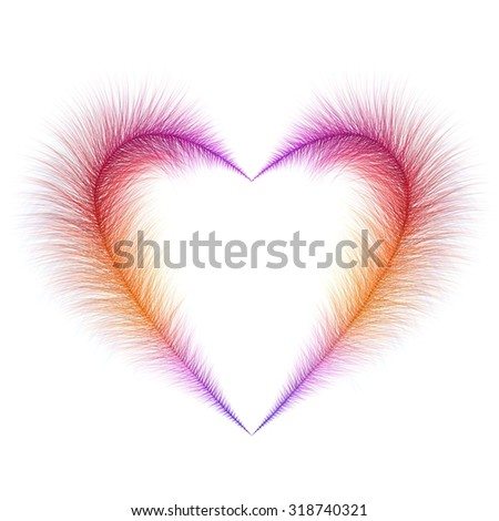 colorful furry heart icon