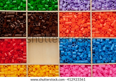 Colorful fusible plastic beads background