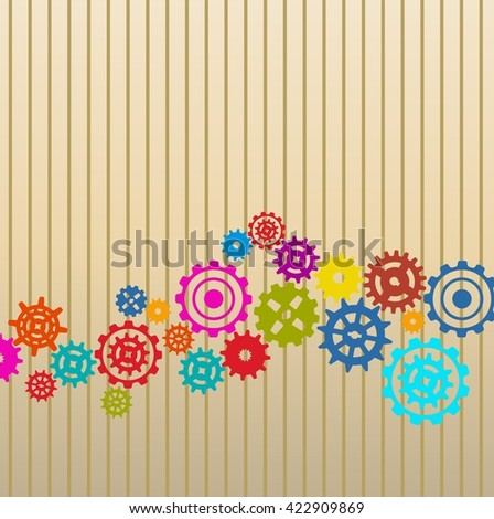 Colorful Gears background - stock photo
