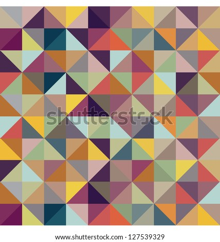 COLORFUL GEOMETRIC PATTERN. Triangle print design. For textile fabrics, wallpapers, background, warping paper, backdrop etc. - stock photo