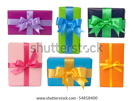 Colorful gifts - stock photo