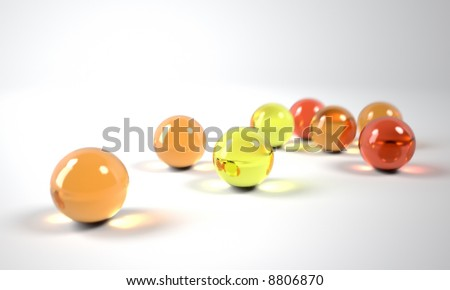 colorful glass balls - stock photo