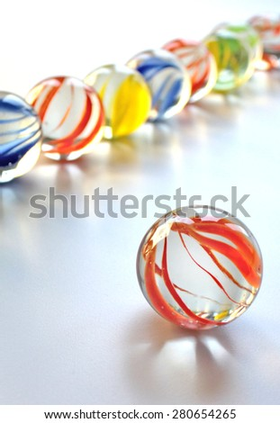 Colorful glass marbles - stock photo