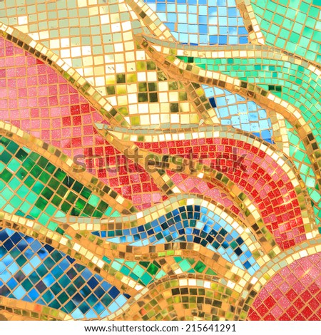 Colorful Glass Mosaic Art Abstract Wall Stock Photo (Royalty Free ...
