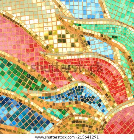 Colorful Glass Mosaic Art Abstract Wall Stock Photo (Royalty Free ...