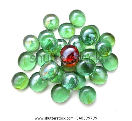 Colorful glass stones on white background  - stock photo