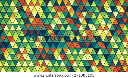 colorful glass triangles pattern. computer generated abstract background - stock photo