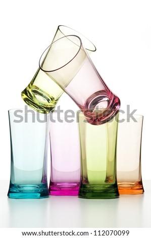 Colorful Glassware - stock photo