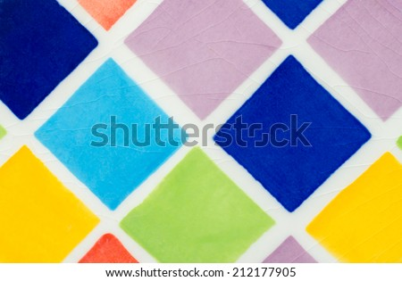 Colorful glazed tile texture background