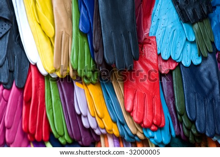 Colorful gloves