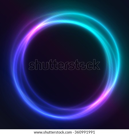Colorful Glowing Rings abstract background illustration