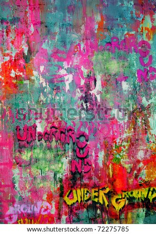 Colorful graffiti - stock photo