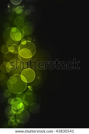 Colorful green bokeh burst background - stock photo