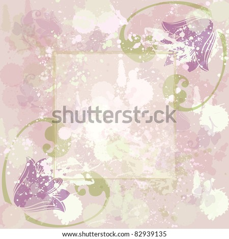 colorful greeting flower background card