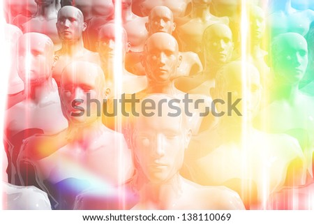 Colorful group of people - stock photo