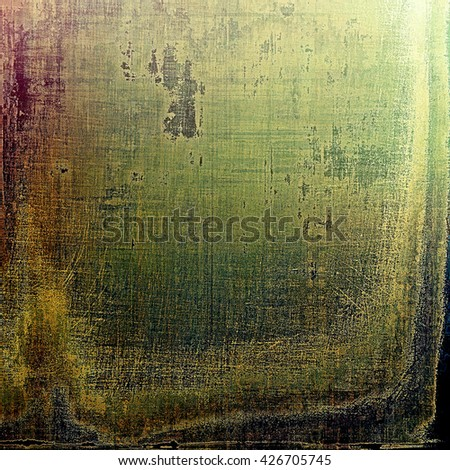 Colorful grunge background, tinted vintage style texture. With different color patterns: yellow (beige); brown; gray; green; purple (violet); black - stock photo