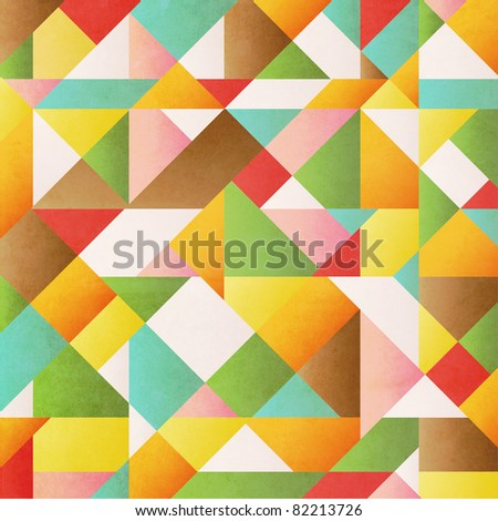 colorful grunge background with triangles and different shapes - stock photo
