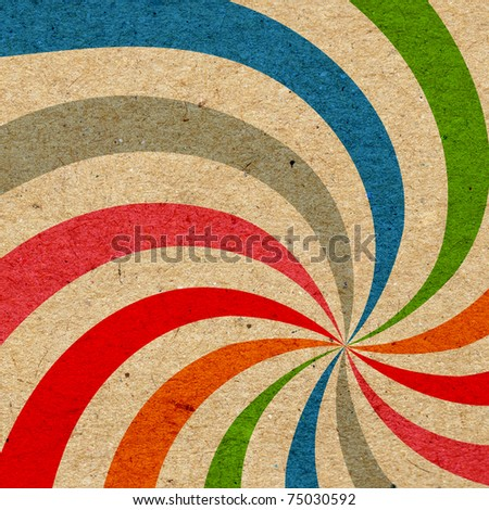 Colorful grunge swirl background - stock photo