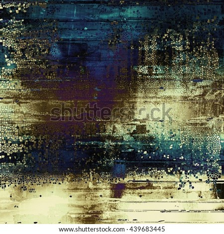 Colorful grunge texture or background with vintage style elements and different color patterns: yellow (beige); brown; blue; purple (violet); gray; black - stock photo