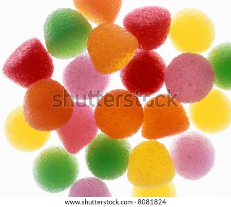 Colorful Gum Drops - stock photo