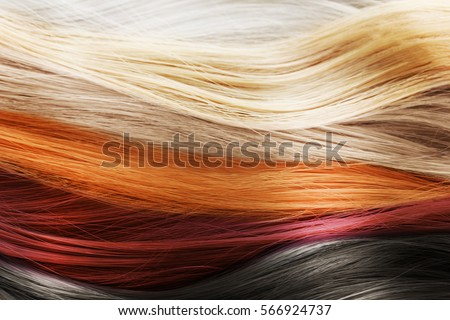 Colorful Hair Background Hairstyles Care Concept Stock Photo ...