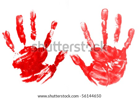 colorful hand painted isolated - stock photo