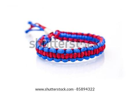 colorful handmade bracelet - stock photo
