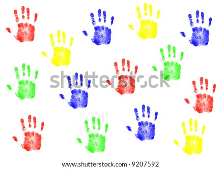 Colorful Hands Colllage