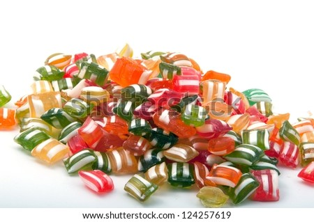 colorful hard candy background - stock photo