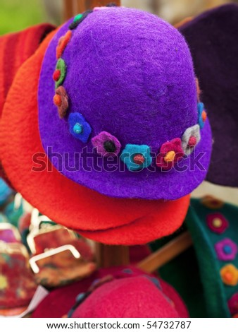 colorful hats - stock photo