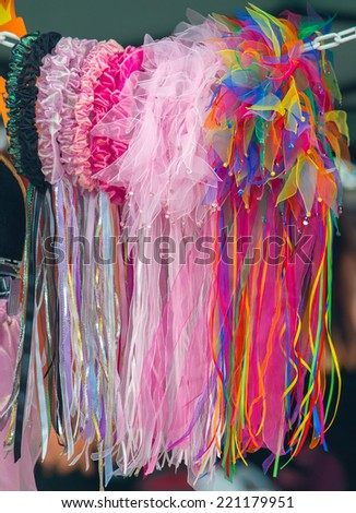 Colorful head bands - stock photo