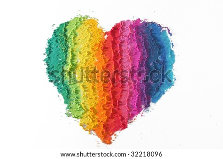 Colorful heart - stock photo