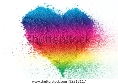 Colorful heart love - stock photo