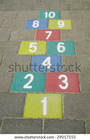 Colorful Hopscotch - stock photo