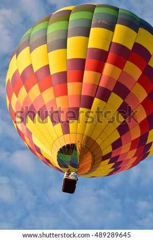 Colorful Hot Air Balloon (Sussex Balloon Festival, Sussex, New Brunswick Canada)