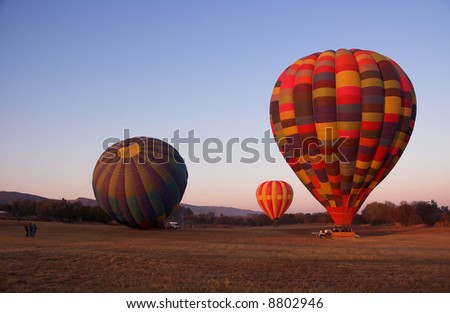Colorful hot air balloons - stock photo