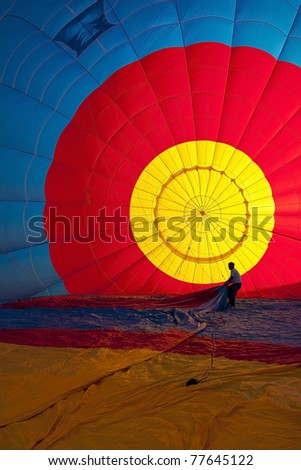 Colorful Hot Air Balloons (Interior) - stock photo