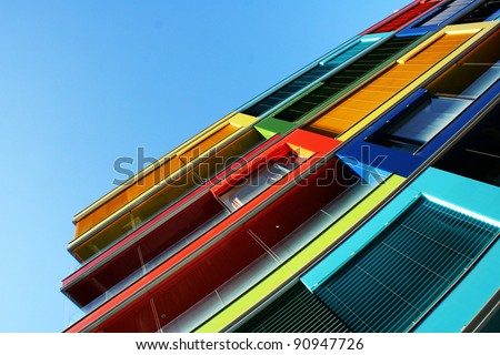 Colorful House in Budapest, Hungary - stock photo