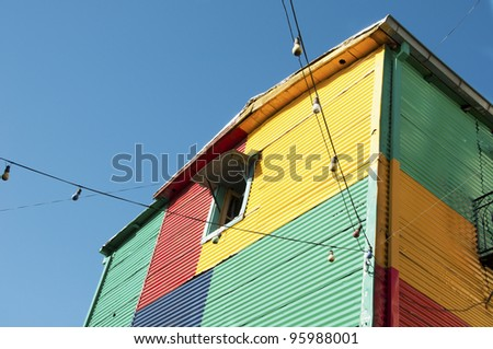 Colorful house in Caminito street - La Boca, Buenos Aires, Argentina - stock photo