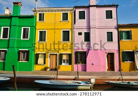 Colorful house in Venice on 15 September, 2013 (1)