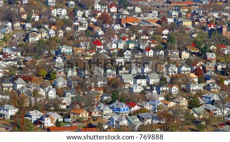 Colorful Houses - stock photo