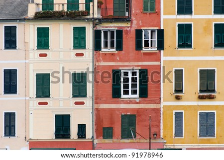 colorful houses in the village of Portofino in Italy