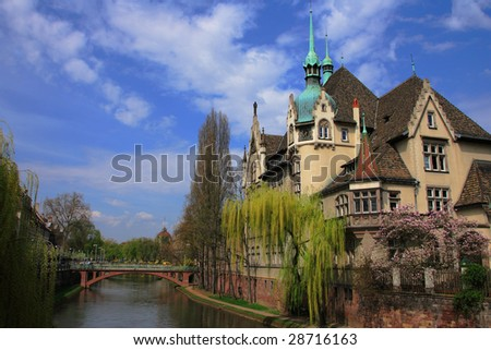 Colorful houses of Strasbourg France