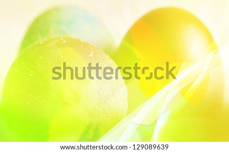 colorful illustration- easter conceptual background - stock photo