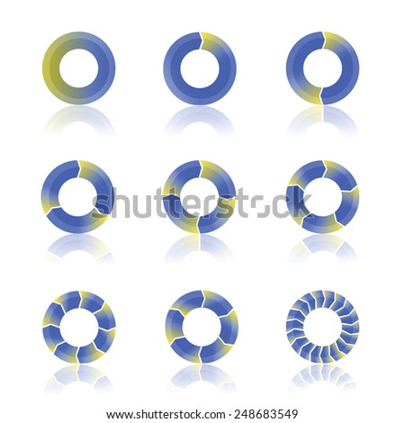 colorful illustration  with abstract cycling diagram on white background