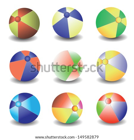 colorful illustration with balls for your design
